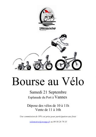 Vannes : Bourse aux vélos le samedi 21 septembre !